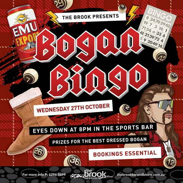 Bogan Bingo at the Brook